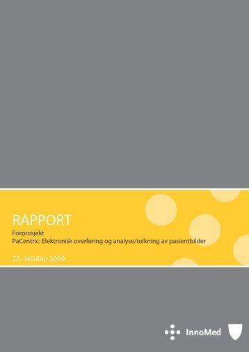 Rapport MedInnova - Innomed