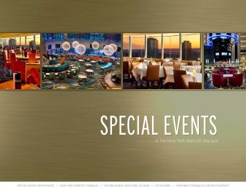 Special eventS - New York Marriott Marquis
