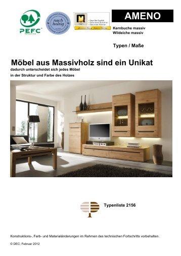 montare massivholzmobel kollektion decker 9 free magazines from decker