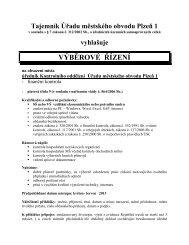 Tajemník Magistrátu města Plzně - Portál městského obvodu Plzeň 1
