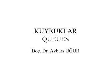 Öncelik Kuyruğu - Dr. Aybars UĞUR