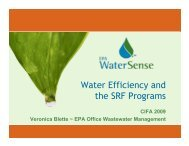 Water Efficiency and the SRF Programs
