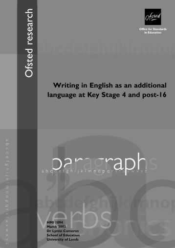 Writing in English as an additional language at Key Stage 4 and ...