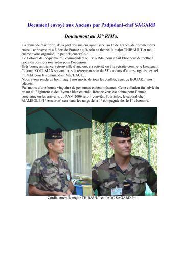 Douaumont au 33° RIMa, - Anciens du RICM