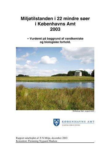 Miljøtilstanden i 22 mindre søer i Københavns Amt 2003