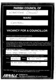 PARISH COUNCIL WARD - Atherstone Town Council