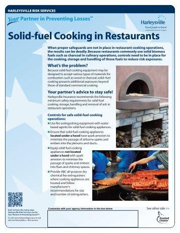 Solid-fuel Cooking in Restaurants - Harleysville Insurance