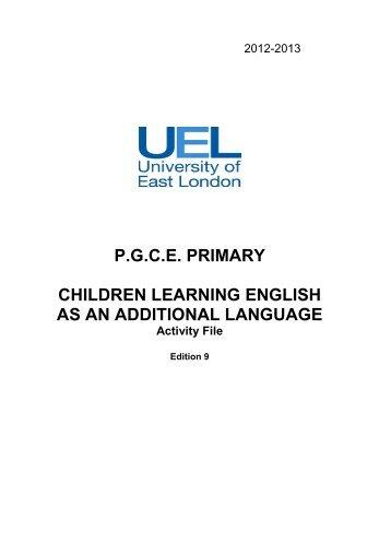 EAL Primary Task File 2012 2013 - NALDIC