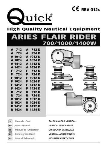 aries flair rider 700/1000/1400w - Quick® SpA
