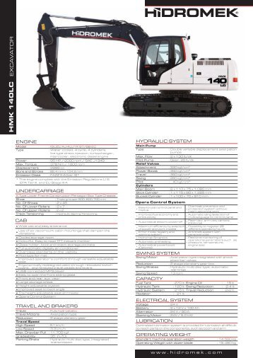140 LC Gen Series - English Product Leaflet - Hidromek