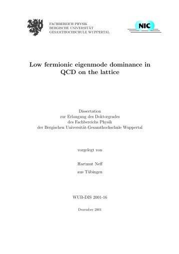 Low fermionic eigenmode dominance in QCD on the lattice