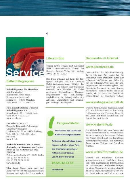 Ausgabe 2 / 2004 - Onkologische Schwerpunktpraxis Darmstadt