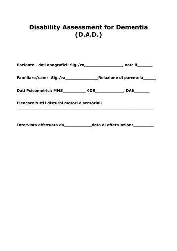 Disability Assessment for Dementia (D.A.D.)