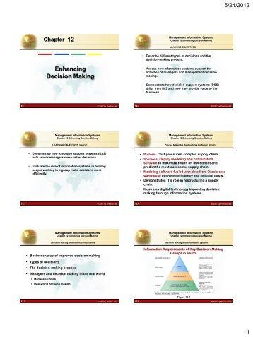 12 Enhancing Decision Making