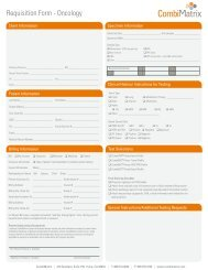 Requisition Form - Oncology - CombiMatrix