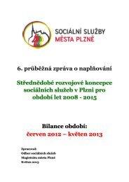 6.průběžná bilanční zpráva - Sociální služby města PLZNĚ - Město ...