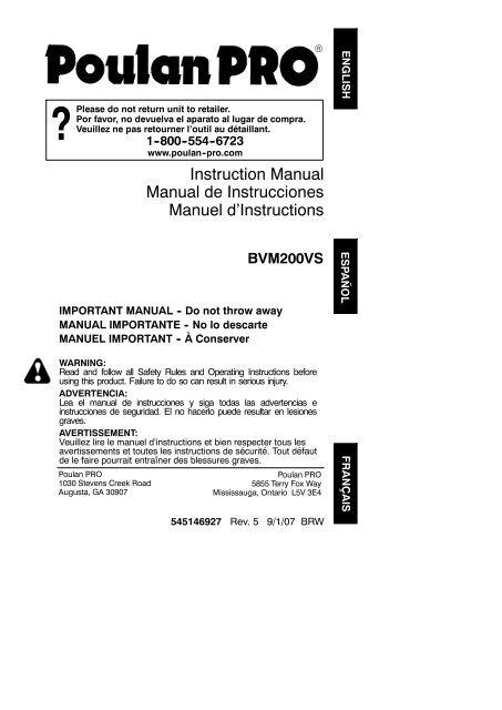 Manual De Instrucciones Manuel D
