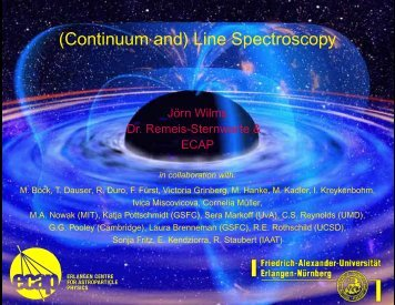 (Continuum and) Line Spectroscopy