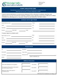 MVCA 2013 Permit Application - Mississippi Valley Conservation