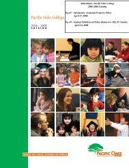 2006-2008 College Catalog - Pacific Oaks College