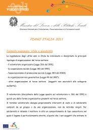 Piano ONC Italia 2011 - Destinazione Europa