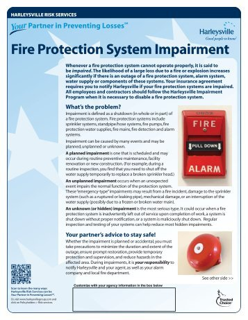 Fire Protection System Impairment - Harleysville Insurance