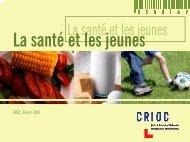 La santé et les jeunes - Crioc