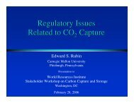 Regulatory Issues Related to CO Capture - World Resources Institute
