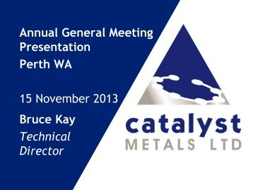 Annual General Meeting Presentation Perth WA 15 November 2013 ...