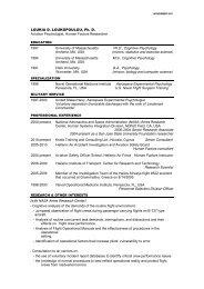 CV - Human Factors Research and Technology Division - NASA