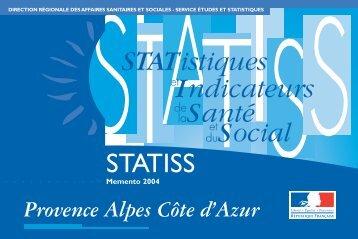 Mémento Paca Statiss 2004 - ARS Paca
