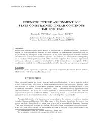 eigenstructure assignment for state-constrained linear ... - LSIS