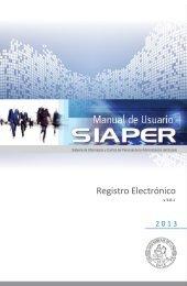 Manual SIAPER Registro Electrónico - Contraloría General de la ...