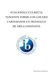 funciones cuya recta tangente forme con los ejes cartesianos un ...