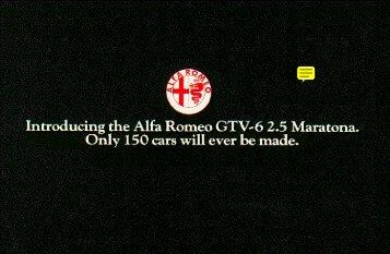GTV6 Maratona, 1984, USA - GTV6 et 156 GTA