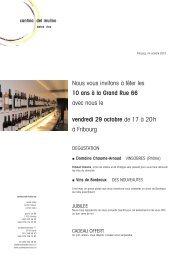 Lettre octobre 2010 - Cantina del Mulino