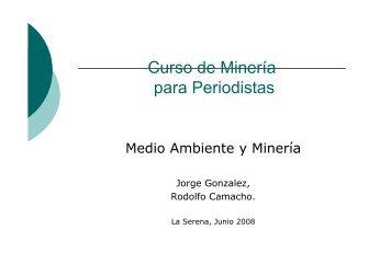 Medio ambiente y mineria - Sonami