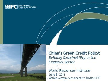 China's Green Credit Policy: - World Resources Institute