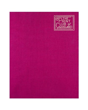 See the Print Club's Red Book - the Print Club of Cleveland