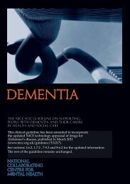 Dementia - National Collaborating Centre for Mental Health