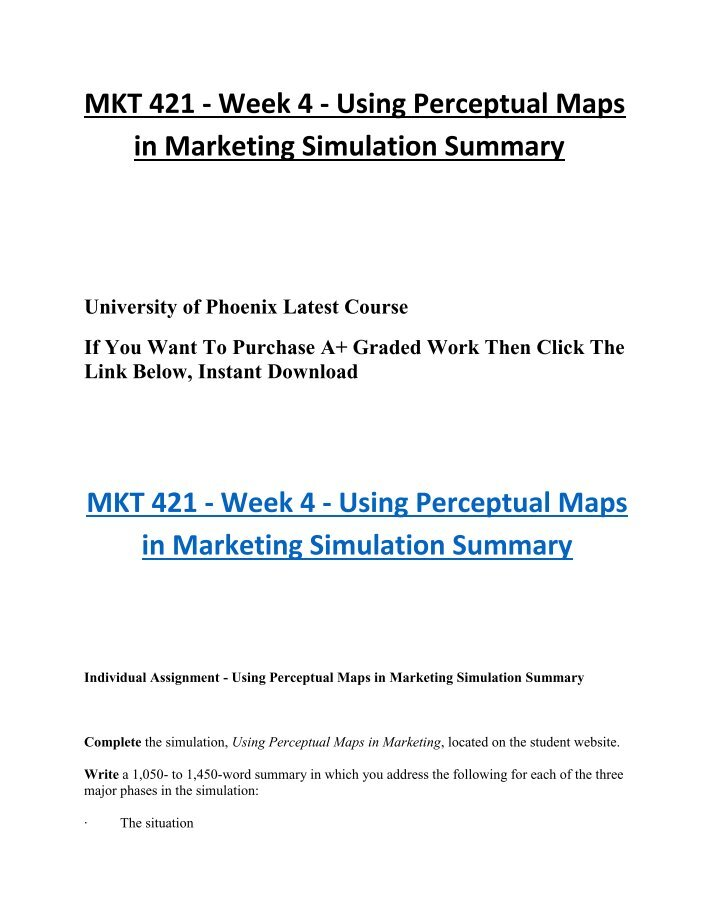 mkt 421 using perceptual maps in marketing Using perceptual maps in marketing: thorr motorcycles thorr motorcycles, inc is manufacturing over 200,000 units annually and has current worth in excess of a billion dollars thorr is a leading name and holds around 40% of the total market.