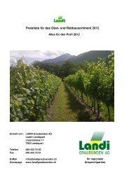 Preisliste Rebbau Alles für den Profi 2012 1 - LANDI Graubünden AG