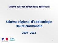 Schéma regional médico-social d 'addictologie - CHU de Rouen