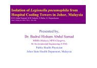 Isolation of Legionella pneumophila from Hospital Cooling ... - MAPTB