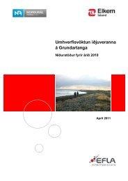 Skýrsla um umhverfisvöktun árið 2010 - Elkem Ísland