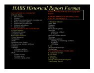 HABS Historical Report Format - Home Page