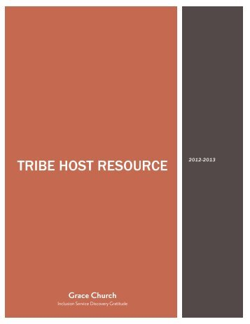 Tribe Host Resource - 2013 - Grace Episcopal Church
