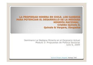 La propiedad minera en Chile