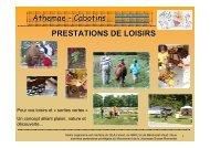 Presentation general activites loisirs