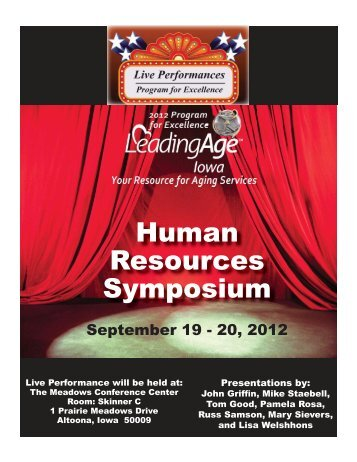 Human Resources Symposium - Iowa Association of Homes ...